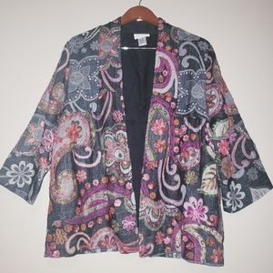 Soft surroundings Multi embroidered jacket